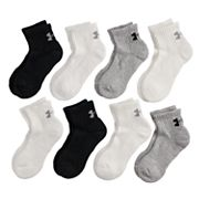 Boys 4-20 Under Armour Charged 8-Pack Quarter-Crew Socks