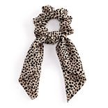 Leopard Print Bow Hair Scrunchie