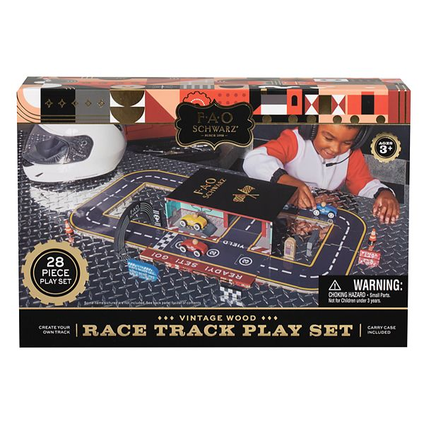 Fao Schwarz Toy Play Set with Carrier Race Track