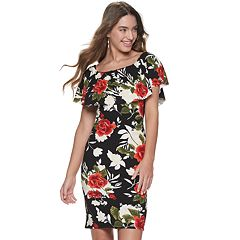 7eb68da8e51 Juniors  Almost Famous Floral Off-the-Shoulder Ruffle Dress
