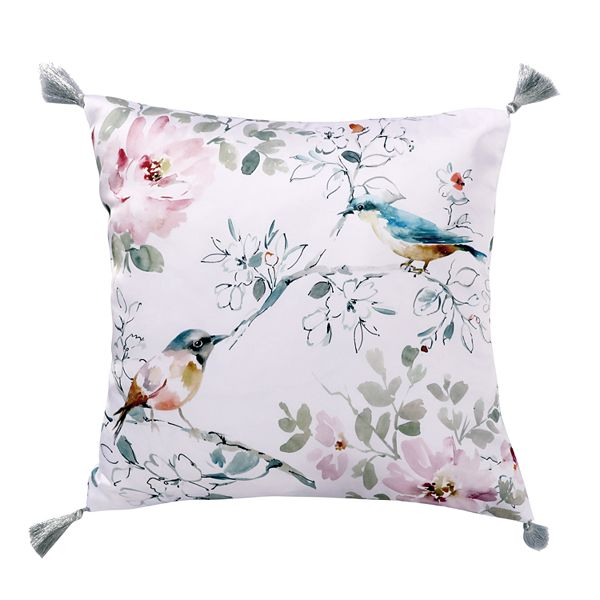 Levtex Home Brixton Grey Bird Pillow