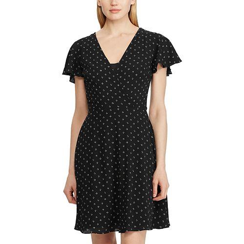 Women's Chaps Flutter Sleeve Dress