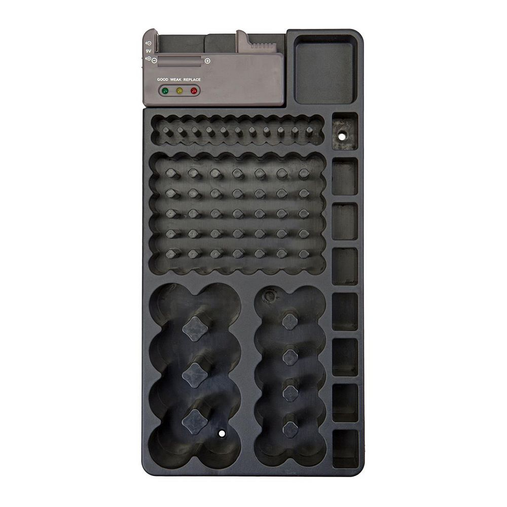 GForce Wall Mounted Battery Organizer & Built-In Tester