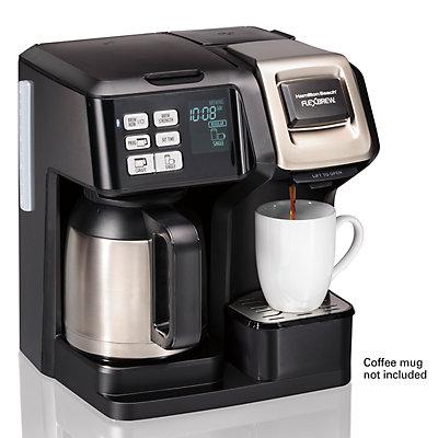 Hamilton Beach 2-Way FlexBrew Single Serve Coffee Maker with Thermal Carafe
