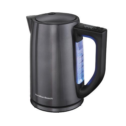 Hamilton Beach 1.7-Liter Variable Temperature Black Stainless Kettle