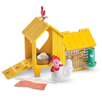 American Girl Chicken & Coop