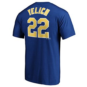 b7d2d4c3a37 Men s Majestic Milwaukee Brewers Keon Broxton Name and Number Tee