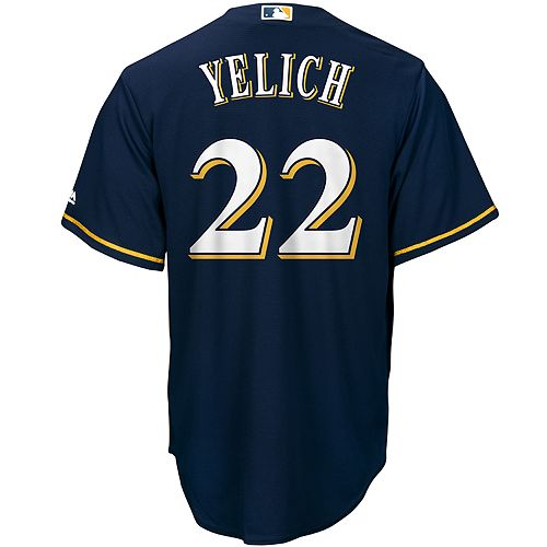 good 85bda dd37a Men's Majestic Milwaukee Brewers Christian Yelich Jersey