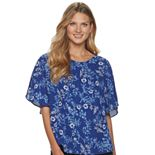 Women's ELLE? Print Pleat Top
