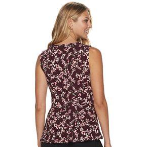 Women's ELLE? Textured Peplum Top