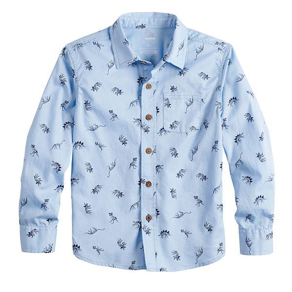 Boys 4-12 Sonoma Goods For Life™ Dinosaur Print Button Down Shirt