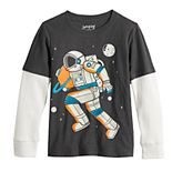 Boys 4-12 Jumping Beans® Astronaut Space Mock Layer Graphic Tee