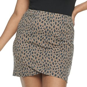 Juniors' Plus SO® Mini Wrap Skirt