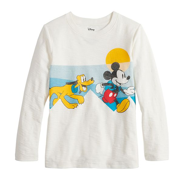 Boys 4-12 Disney's Mickey and Pluto Running Long Sleeve Tee by Jumping Beans®