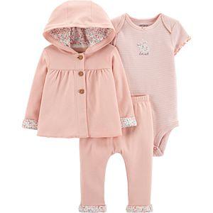 Baby Girl Carters 3-Piece Little Cardigan Set