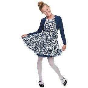 Girls 7-16 & Plus Size Knitworks 2-piece Shrug & Skater Dress Set