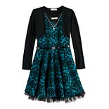 Girls 7-16 & Plus Size Knitworks 2-piece Shrug & Skater Dress Set