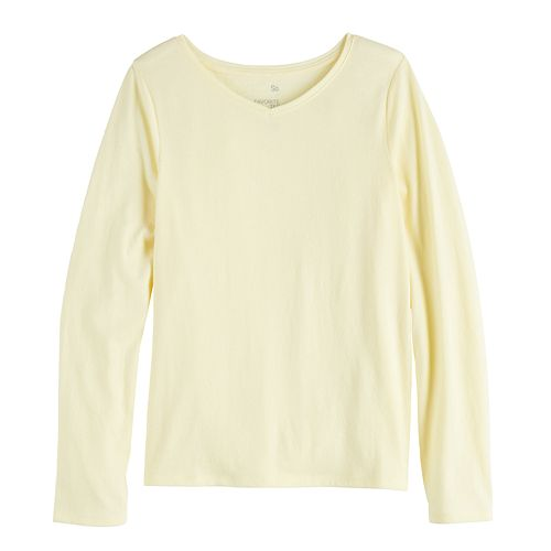 Girls 7-16 & Plus Size SO® V-Neck Essential Tee