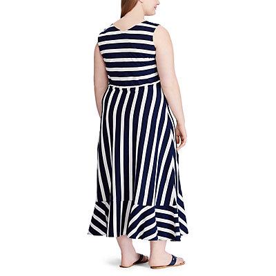 Plus Size Chaps Striped Knit Midi Dress