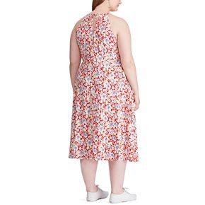 Plus Size Chaps Halter Knit Midi Dress