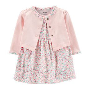 Baby Girl Carter's Floral Dress & Cardigan Set