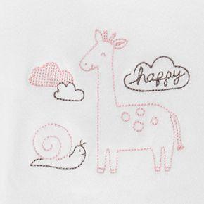 Baby Girl Carter's 4 Piece Take Me Home Snail & Giraffe Top, Pants Hat & Socks Set
