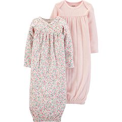 90e20148a Baby Girl Carter's 2 Pack Floral Pleated Sleep Gowns