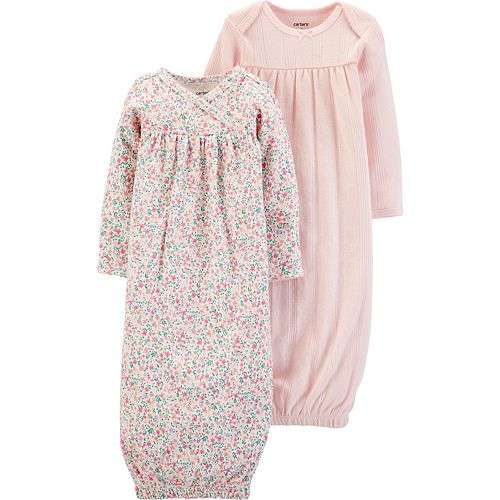 Baby Girl Carter's 2 Pack Floral Pleated Sleep Gowns