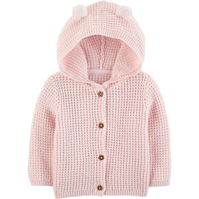 Baby Girl Carter's Knit Hooded Cardigan