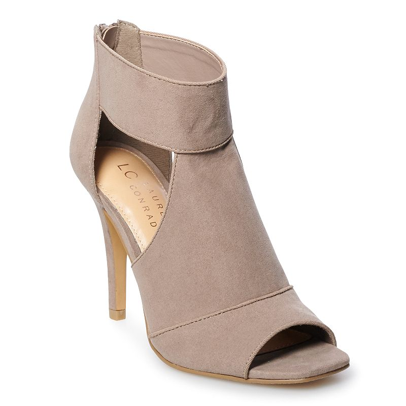 These LC Lauren Conrad Muffin heel sandals are the perfect fit and sure to make a statement. These LC Lauren Conrad Muffin heel sandals are the perfect fit and sure to make a statement. SHOE FEATURES Ankle band and faux suede upper Traction sole and heel for stability SHOE CONSTRUCTION Faux suede upper Manmade, textile lining Foam midsole Textile, manmade outsole SHOE DETAILS Peep toe Zipper closure Padded footbed Size: 11. Color: Lt Brown. Gender: female. Age Group: adult.