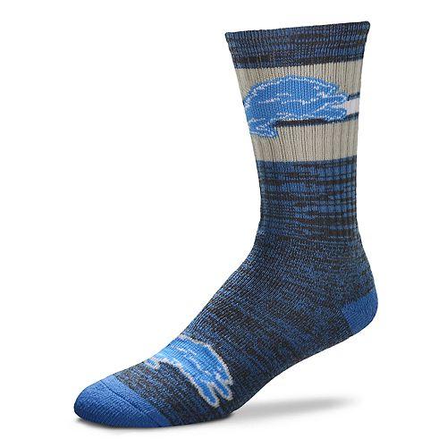 Men's For Bare Feet Detroit Lions First String Crew Socks