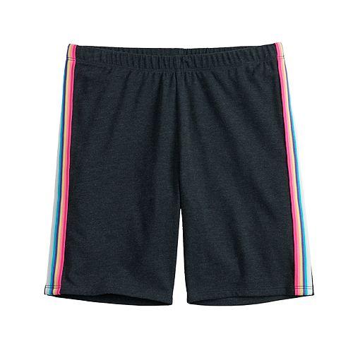 Girls 7-16 SO® Side Stripe Bike Shorts