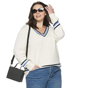 Plus Size POPSUGAR Collegiate Sweater