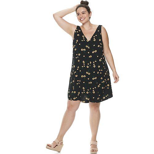 Plus Size POPSUGAR Button-Front Dress