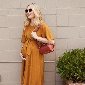 Maternity a:glow Flutter-Sleeve Dress