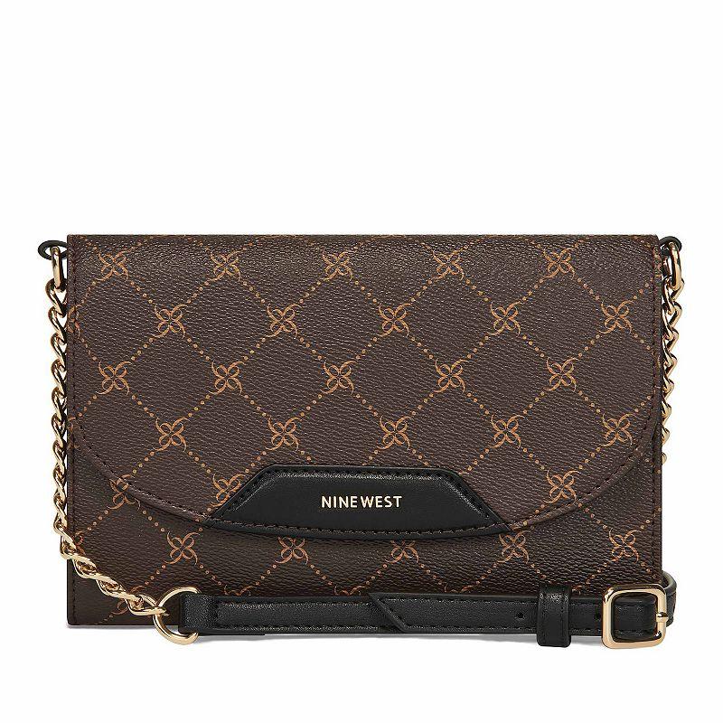 Nine West Astoria Crossbody Wallet. Red/Coppr