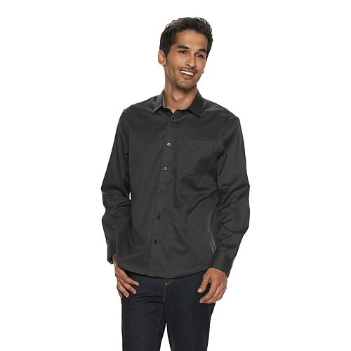 Men's Apt. 9® Untucked-Fit No-Iron Button-Down Shirt