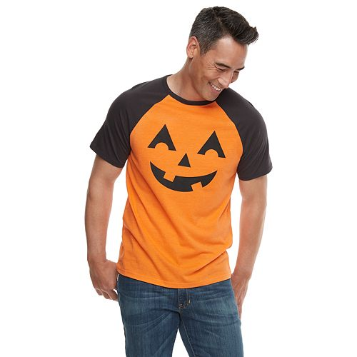 Men's Family Fun Halloween Jack-o'-Lantern Graphic Tee