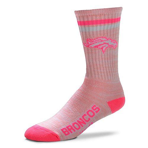 Women's Denver Broncos Pretty in Pink Crew Socks