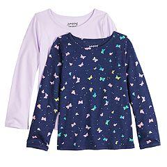 58fa7188 Girls Jumping Beans T-Shirts Kids Long Sleeve Tops, Clothing   Kohl's