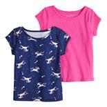 Girls 4-12 Jumping Beans® Adaptive 2-pack Short-Sleeve Tees