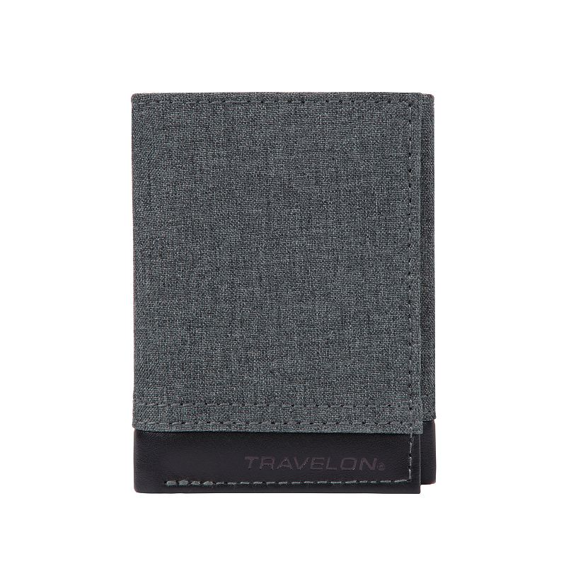 Travelon RFID Blocking Trifold Wallet. Grey