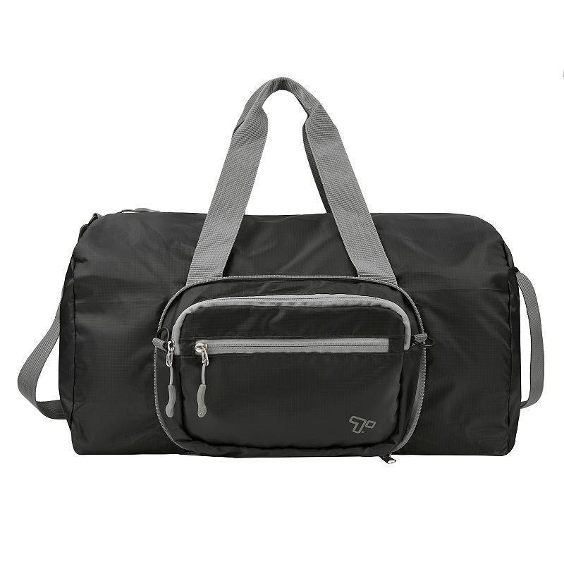 Travelon 2-in-1 Packable Duffel Bag. Black