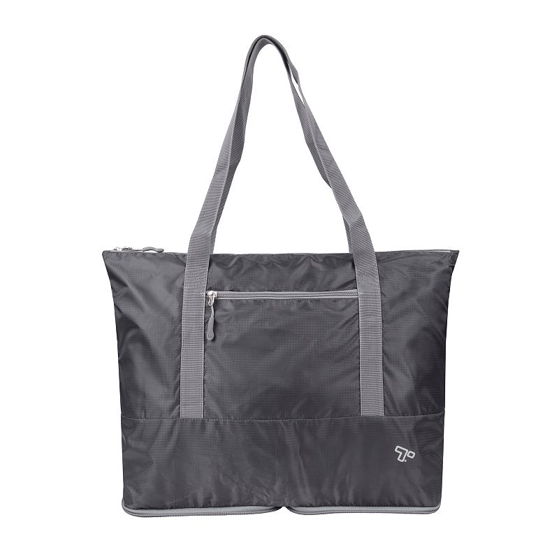Travelon Folding Packable Tote. Grey