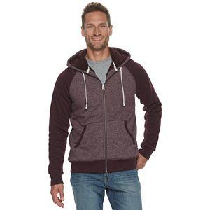 Men's SONOMA Goods for Life? Sherpa-Lined Zip-Front Fleece Hoodie