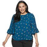 Plus Size Apt. 9® Ruffle Kimono Sleeve Top