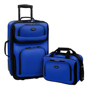 US Traveler RIO Expandable 2-Piece Softside Wheeled Luggage Set