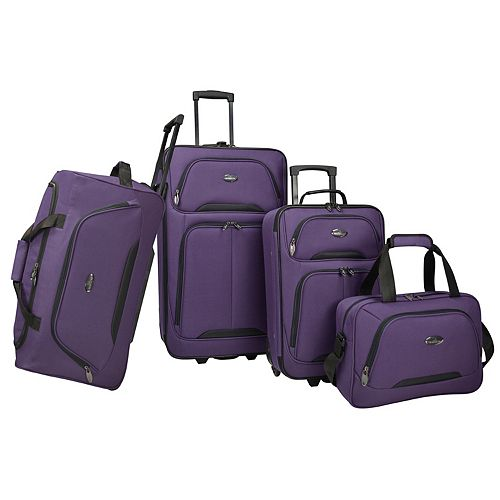 US Traveler Vineyard 4-Piece Softside Wheeled Luggage Set