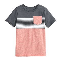 718c95997 Boys 4-12 Jumping Beans® Colorblock Striped Pocket Tee