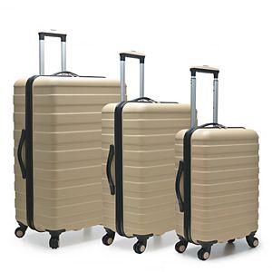US Traveler Cypress 3-Piece Hardside Spinner Luggage Set